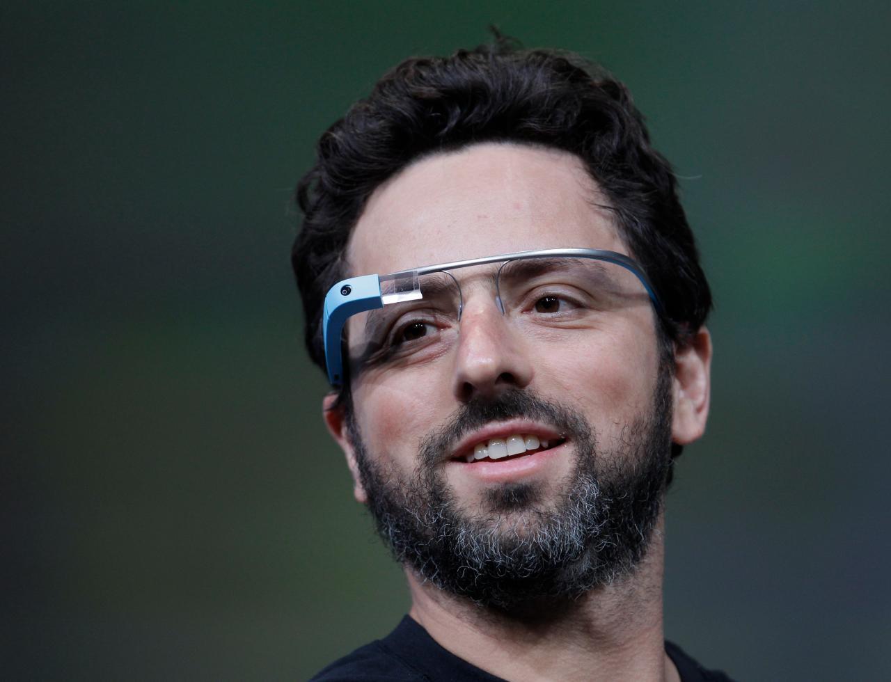 Sergey Brinn with his Google Glass.