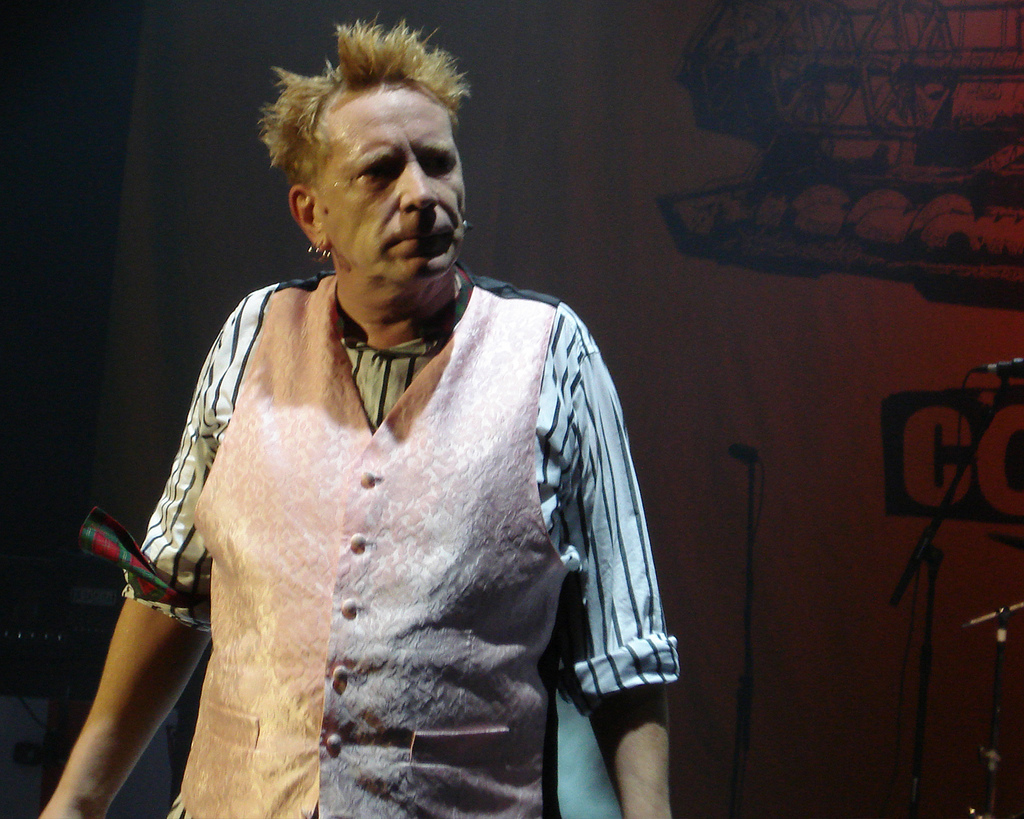 John Lydon at the Hammersmith Odeon.